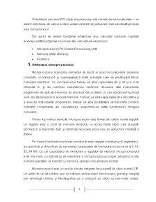 Componentele și Funcționarea Microprocesorului - Pagina 3
