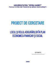 Locul si Rolul Asigurarilor in Plan Economico-financiar si Social - Pagina 1