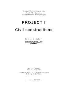 Civil Constructions - Individual Dwelling - Pagina 1