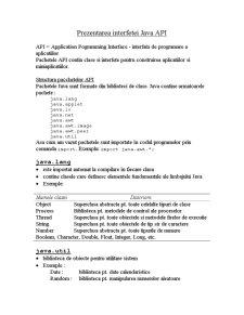 Interfata Java API - Pagina 1