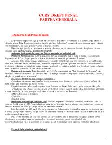 Drept Penal - Partea Generala - Pagina 1