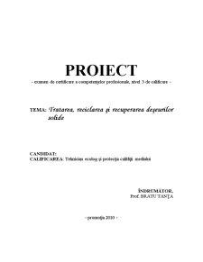 Tratarea, Reciclarea si Recuperarea Deseurilor Solide - Pagina 2