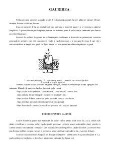 Gaurirea - Strunjirea - Rectificarea - Prelucrarea prin Aschiere - Rabotarea si Mortezarea - Pagina 1