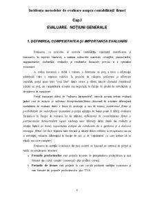 Incidența Metodelor de Evaluare Asupra Contabilității Firmei - Pagina 4