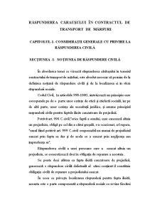 Răspunderea Căraușului în Contractul de Transport de Mărfuri - Pagina 4