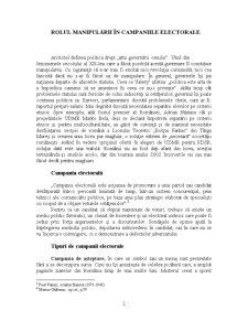 Rolul Manipulării în Campaniile Electorale - Pagina 2