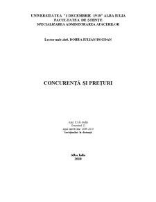 Concurență și Prețuri - Pagina 1