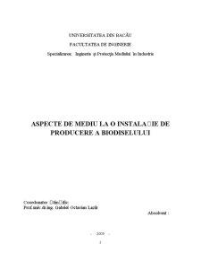 Aspecte de Mediu la o Instalatie de Producere a Biodieselului - Pagina 2