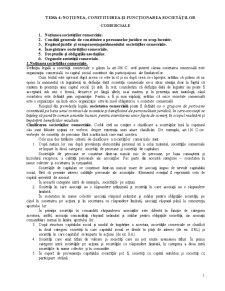 Notiunea, Constituirea si Functionarea Societatilor Comerciale - Pagina 1