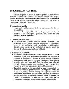 Comunicarea cu Mass Media - Pagina 1