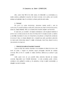 Conceptul de Drept Comercial - Pagina 1