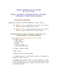 Sinteza Privind Reglementarile Contabile Conforme cu Directivele Europene - Pagina 1