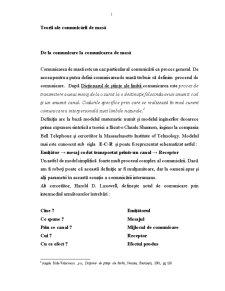 Teorii ale Comunicării de Masă - Pagina 1