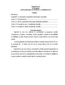 Organizarea si Tehnologia Comertului - Pagina 1