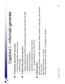 Proiectarea Bazelor de Date - Pagina 2