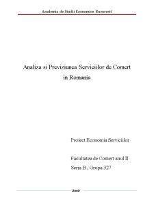 Analiza si Previziunea Serviciilor de Comert - Pagina 1