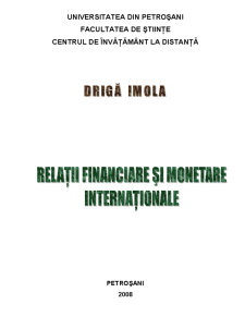 Relatii Financiare Monetare Internationale - Pagina 1