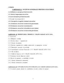 Contabilitatea Stocurilor la Firma SC Grand Garage Auto SRL - Pagina 2