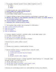 Dreptul Muncii - Test Grila - Pagina 1