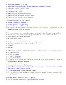 Dreptul Muncii - Test Grila - Pagina 2