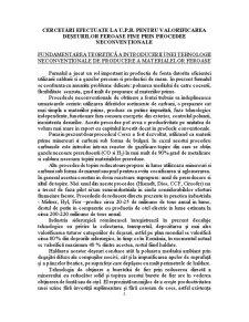 Cercetari pentru Valorificarea Deseurilor Feroase Fine prin Procedee Neconventionale - Pagina 2