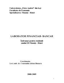 Laborator Financiar-Bancar - Pagina 1