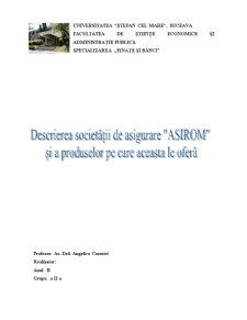 Prezentarea Societatii de Asigurari Asirom - Pagina 1