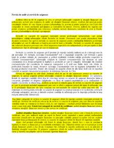 Nevoia de Audit și Servicii de Asigurare - Pagina 1