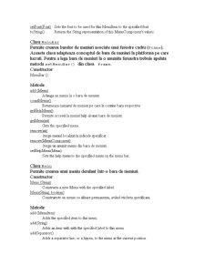 Meniuri în Java - Pagina 2