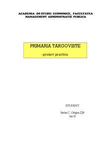 Primaria Targoviste - Proiect Practica - Pagina 1