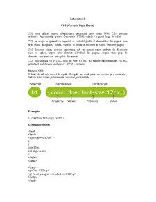 Cascade Style Sheet - Pagina 1