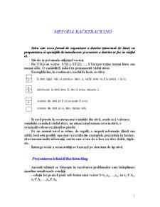 Metoda Backtracking - Pagina 1