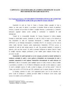 Esantionarea si alte Proceduri de Testare Selective - ISA 530 - Pagina 1