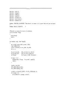 Socket - Client-Server - Pagina 1