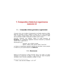Compoziția Chimică și Organizarea Materiei Vii - Pagina 1