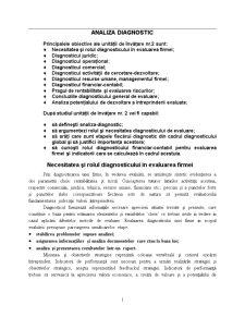 Analiza Diagnostic - Pagina 1