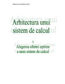Arhitectura unui Sistem de Calcul Original - Pagina 1