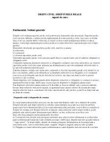 Drept Civil - Drepturile Reale - Pagina 1