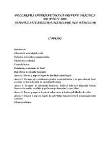Declarația Internațională privind Practica de Audit 1006 - Pagina 1