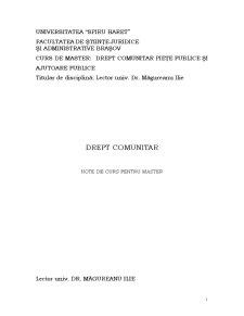 Curs Drept Comunitar - Piete Publice si Ajutoare Publice - Pagina 1