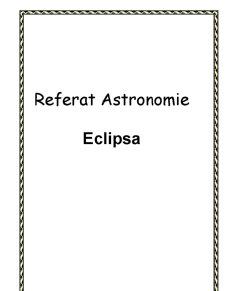 Despre Eclipse - Pagina 1