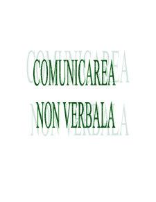 Comunicarea Non Verbala - Pagina 1