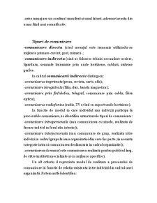 Notiuni Generale Privind Procesul de Comunicare si Rolul Comunicarii in Relatiile Interumane - Pagina 3