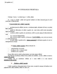 Biologie Vegetala - Curs 2 - Pagina 1