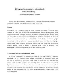 Divergențe în Comunicare - Pagina 1