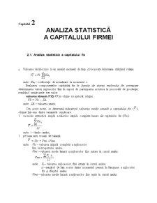 Analiza Statistică a Capitalului Firmei - Pagina 1