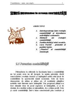 Scurta Incursiune in Istoria Contabilitatii - Pagina 1