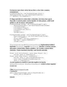 Serializarea Obiectelor în Java - Pagina 2