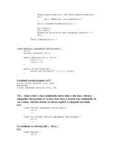 Serializarea Obiectelor în Java - Pagina 5