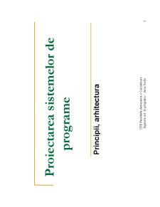 Ingineria Sistemelor de Programe - Pagina 1